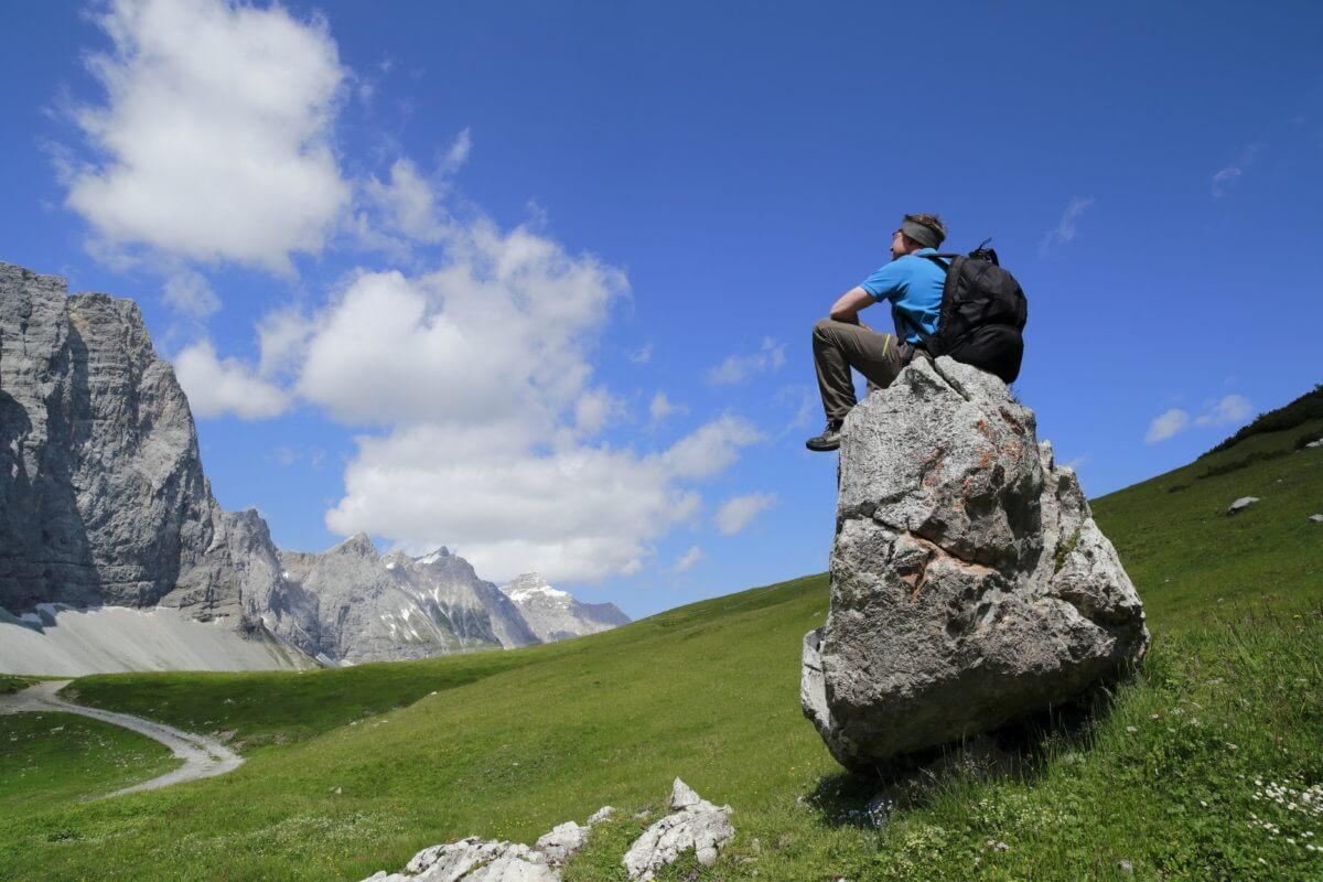 Rast am Berg im Karwendel